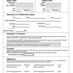 2020 Vehicle Bill Of Sale Form Fillable Printable PDF