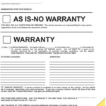 As Is No Warranty Printable Form Template Business PSD