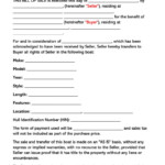 Bill Of Sale For Boat Vessel Free Forms Templates