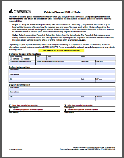 Bill Of Sale Templates 11 Forms Free Fillable PDF Forms