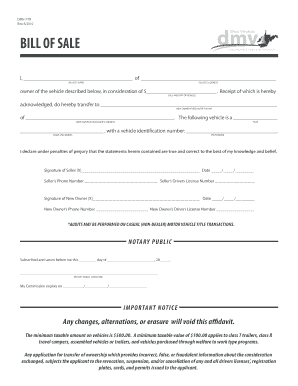Fillable Online West Virginia DMV Bill Of Sale Fax Email