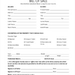 FREE 11 Sample Generic Bill Of Sale Forms In PDF Word