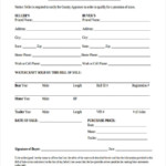 FREE 5 Sample Watercraft Bill Of Sale Forms In MS Word PDF