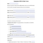 FREE 6 Sample Equipment Bill Of Sale Templates In PDF