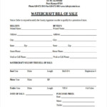FREE 7 Boat Bill Of Sale Forms In PDF Ms Word