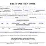 FREE 7 Sample Boat Bill Of Sale Templates In PDF MS Word