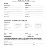 FREE 9 Sample Trailer Bill Of Sale Forms In PDF MS Word