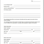 Free Blank Bill Of Sale Form PDF Template Form Download