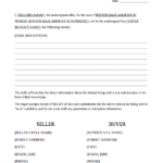 Free Download Bill Of Sale Form For 2021 Printable And