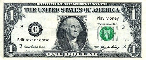 Free Play Money Printable Template Instant Download
