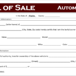 Free Virginia Car Bill Of Sale Template Off Road Freedom