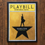 Hand Painted Hamilton Broadway Playbill Canvas By