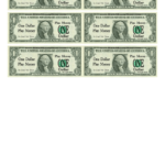 One Dollar Bill Play Money Template Printable Pdf Download