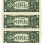One Dollar Bill Template Back Download Printable PDF