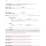 As Is no Warranty Bill Of Sale Template EForms