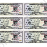 Fifty Dollar Bill Play Money Template Printable Pdf Download