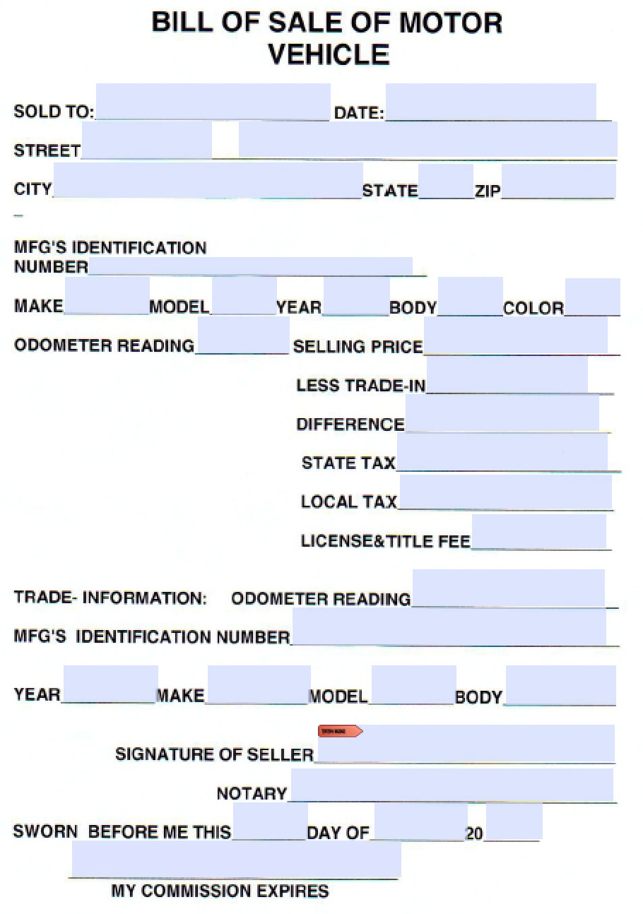 Free Cumberland County Tennessee Vehicle Bill Of Sale