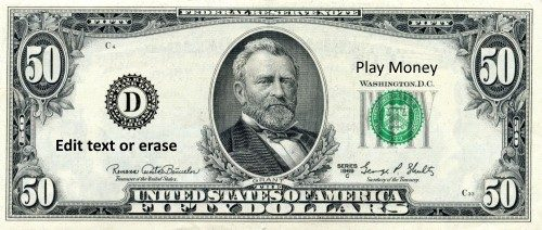 Free Custom Printable Play Money Template Instant Download