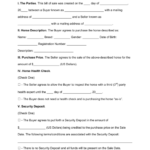 Free Horse Bill Of Sale Form PDF Word EForms Free