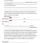 Free Notarized Bill Of Sale Form PDF