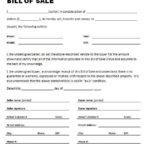 Get Printable Bill Of Sale For Travel Trailer Forms Free