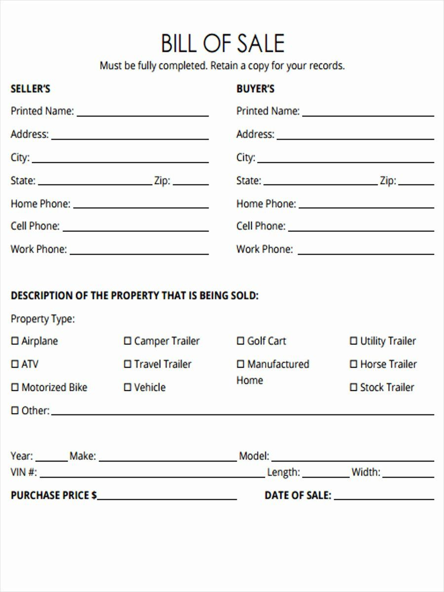 Horse Bill Of Sale Forms Awesome Free 5 Horse Bill Of Sale