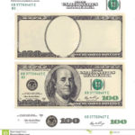 Photo About Clear 100 Dollar Banknote Template And