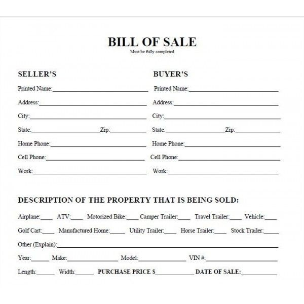 Printable Bill Of Sale For Vehicle In Texas Shop Fresh
